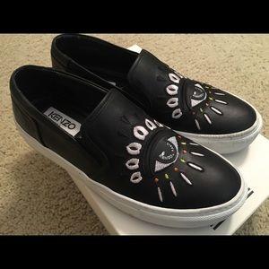 like-new KENZO slip-on sneakers